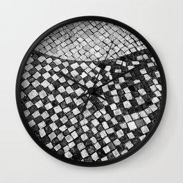 Mosaico A calçada portuguesa Wall Clock