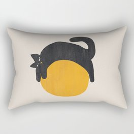 Cat with ball Rectangular Pillow