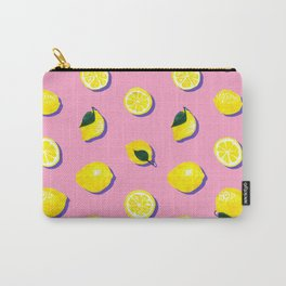 Pink Lemon ~ 80's Pattern Carry-All Pouch