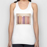 literary Tank Tops featuring Literary Gems II by Laura Ruth
