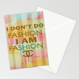 Fashion Typography Stationery Cards