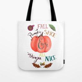 Pumpkin Spice Fall Tote Bag