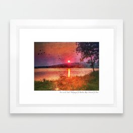 Fire on the Lake Framed Art Print