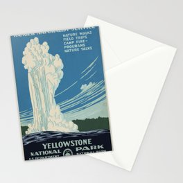 Vintage poster - Yellowstone Stationery Cards