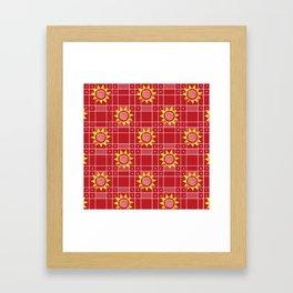 Red Hot Sunny Days Framed Art Print