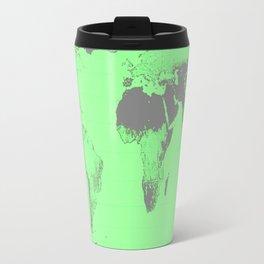 World Map : Gall Peters Seafoam Green Travel Mug