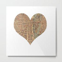 heart map 4 Metal Print