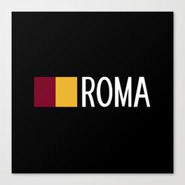 Italy: Roman Flag & Roma Canvas Print