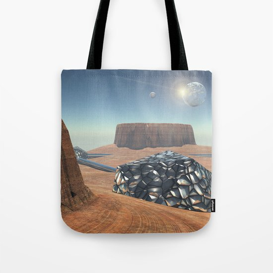 Mars Babylon Colony, view of Armageddon  Tote Bag