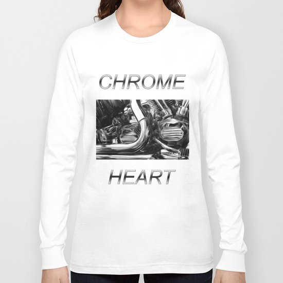 Chrome Heart Long Sleeve T-shirt by mikeclements