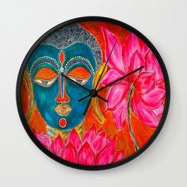 The Blue Buddha Wall Clock