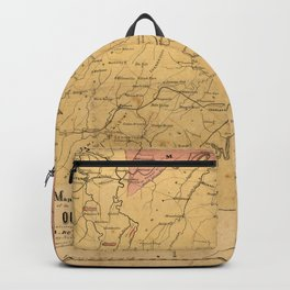 Map of the Seat of War, Virginia & Maryland (1861) Backpack