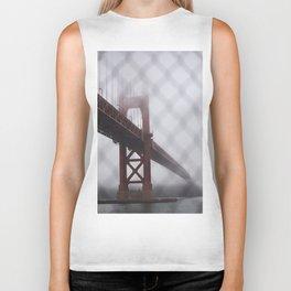 Golden Gate Bridge in Fog Biker Tank