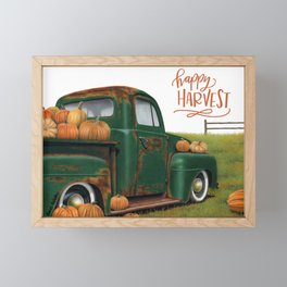 Pumpkin Spice- Happy Harvest Framed Mini Art Print