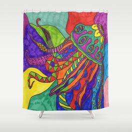 Jelly Fishin' Shower Curtain