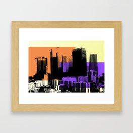 Downtown LA Skyline Framed Art Print