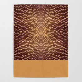 brown and mustard pattern Poster
