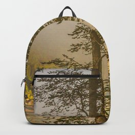 Mountains in the mist Backpack