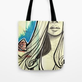 Graffiti Girl Tote Bag