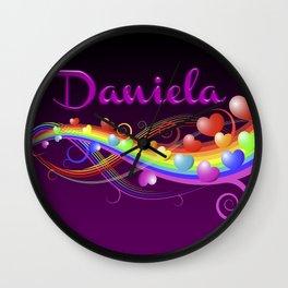 Daniela Hearts Wall Clock