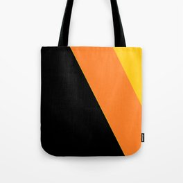 Black, Orange, Yellow Tote Bag
