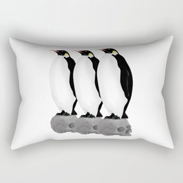 Penguins Standing Guard Rectangular Pillow