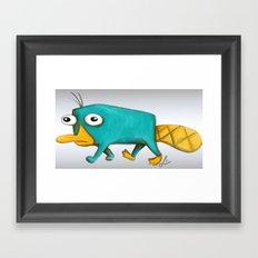 Perry - Pet mode on Framed Art Print