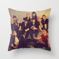 viria Throw Pillows featuring Karasuno by viria