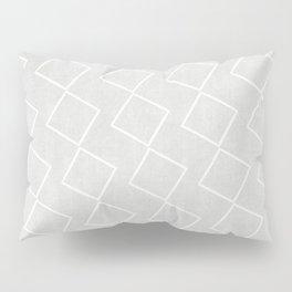 Tilting Diamonds in Grey Pillow Sham