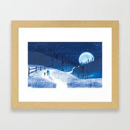 Bluebells Forest Framed Art Print