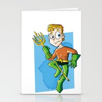 aquaman Stationery Cards featuring Aquaman! by neicosta