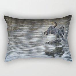 Double-Crested Cormorant Landscape Rectangular Pillow