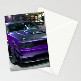 Purple Challenger Hellcat Demon color photograph / photography / poster Stationery Cards