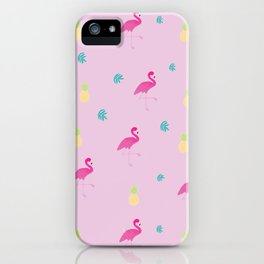 Tropical paradise pink iPhone Case