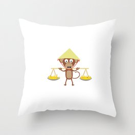 Vietnamese monkey Throw Pillow