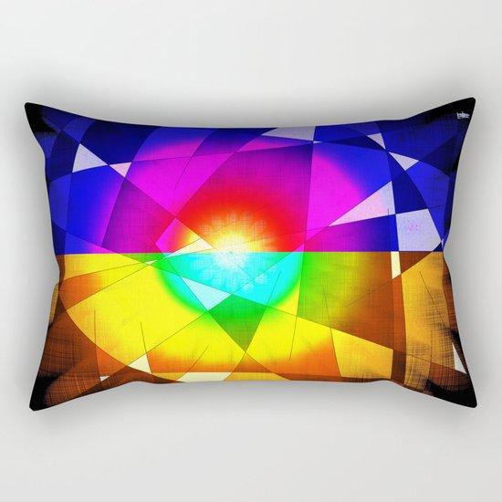 lined color flash Rectangular Pillow