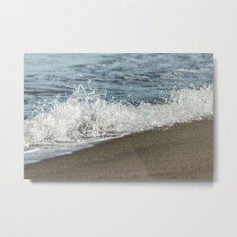 Sandy Beach Wave Metal Print