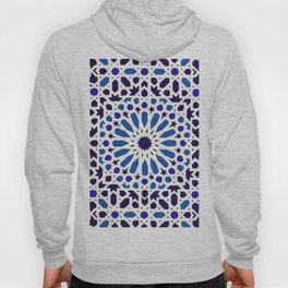 V19 Epic Light Blue Traditional Moroccan Pattern Design . Hoody