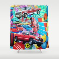 cars Shower Curtains featuring Cars by John Turck