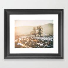 Morning field Framed Art Print