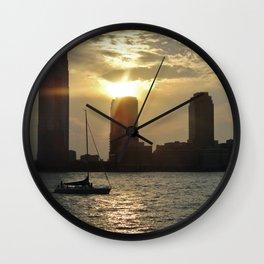 Summer sunset in New Jersey  Wall Clock