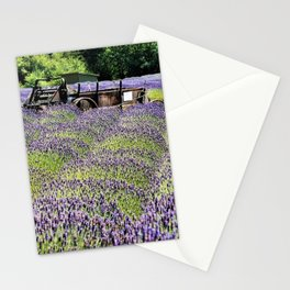 Lavender Fields and Abandoned Vehicle Stationery Cards