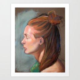 Pastel Portrait Study Art Print