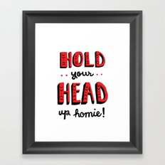 Head Up Framed Art Print
