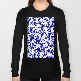 Spots - White and Dark Blue Long Sleeve T-shirt