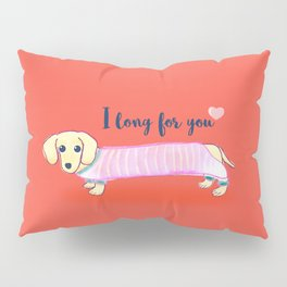 Valentine's Day dachshund dog Pillow Sham