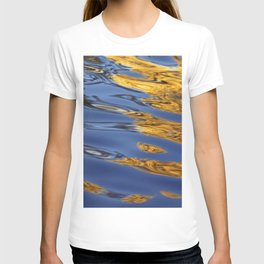 Blue and Gold Water Reflection T-shirt