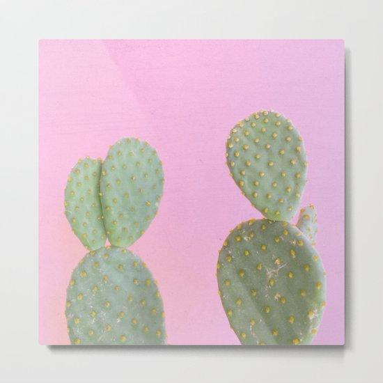 Pink Cacti Metal Print