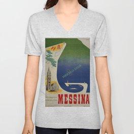 Messina port of Sicily Unisex V-Neck