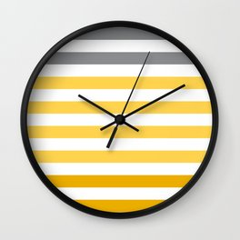 Stripes Gradient - Yellow Wall Clock